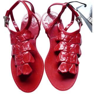 Roberto Cavalli Red Jelly Sandals