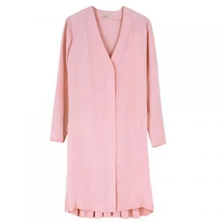Emilia Wickstead Pink Silk Shirt Dress