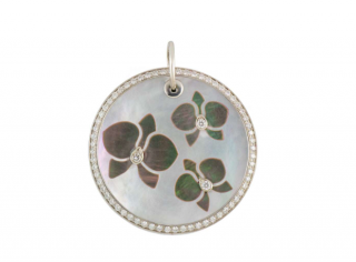Cartier Mother of Pearl Pave Set Diamond Pendant