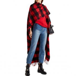 Balenciaga wool & cashmere-blend tartan wrap