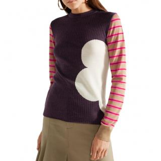 Marni Ribbed Intarsia Wool Sweater