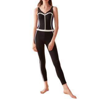E.Leoty Corset Black & Navy Sport Suit
