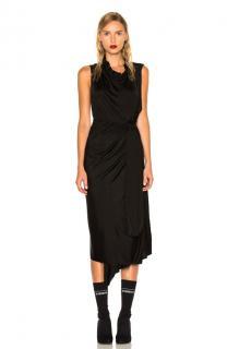 Vetements Black Asymmetrical midi dress