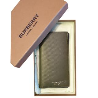 Burberry Olive Green Bi-Fold Wallet