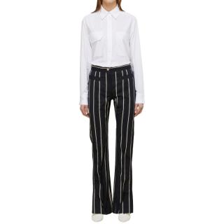 Celine Navy Striped Pants