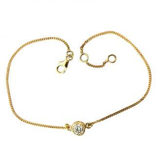 Bespoke 0.55ct Single Diamond 18ct Gold Bracelet