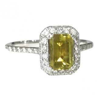 Bespoke Peridot & Diamond Ring