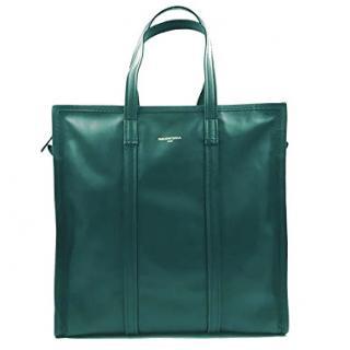 Balenciaga Bazar M Green Tote Bag