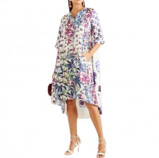 Biyan Arlo floral-print silk-twill dress