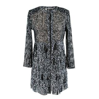 Caban Romantic Mosaic Fringed Leather Jacket