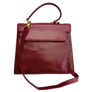 Bally Vintage Burgundy Leather Tote