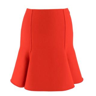 Versace Red Wool Mini Skirt