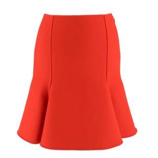 Versace Red Wool Mini Skirt