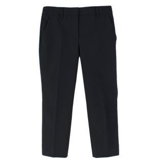 Prada Black Cropped Tailored Trousers