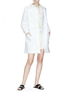 Emilio Pucci White Double Breasted Coat