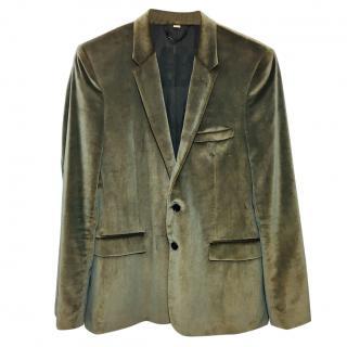 Burberry Velvet Taupe Jacket