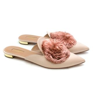 Aquazzura Powder Puff Pompom Flats