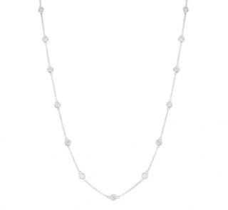 Bespoke White Gold Diamonds By The Yard Necklace