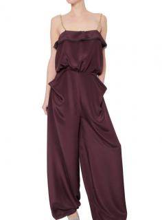 Roksanda Draped Silk Marocain Crepe Jumpsuit