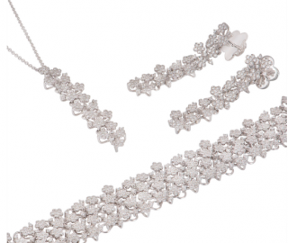 Pasquale Bruni Floral Diamond Drop Necklace, Earrings & Bracelet