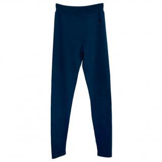Loro Piana cashmere blend blue joggers