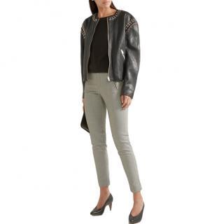 Isabel Marant buddy embellished leather jacket