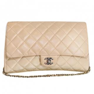 Chanel Classic Nude Quilted Flap Bag