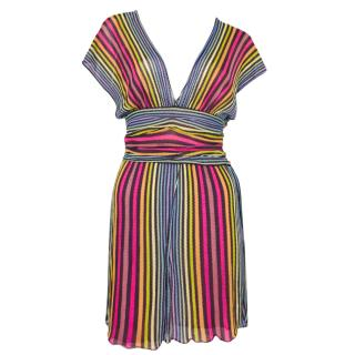 Missoni Rainbow Stripe Mini Dress