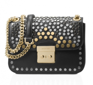 Michael Kors Jenkins Stud Sloan Editor Medium Chain Shoulder Bag