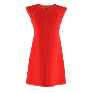 Courreges Red Wool Shift Dress