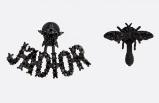 DIor Black Crystal J'adior Bug Earrings