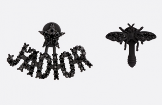 DIor Black Crystal J'adior Bug Earrings