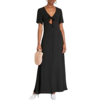Staud Maya tie-front crepe maxi dress
