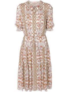 Tory Burch Serena Printed Silk Dress
