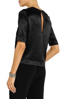 Elizabeth and James green hammered satin Piper Top