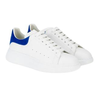 Alexander McQueen Blue Suede & White Leather Oversize Trainers