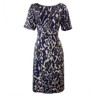 Elie Tahari Leopard Print Britney dress
