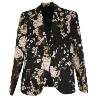 Dolce & Gabbana Single breasted floral brocade blazer