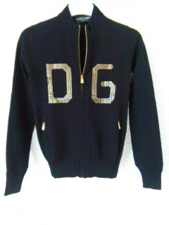 Dolce & Gabbana zip fronted cardigan with DG logo