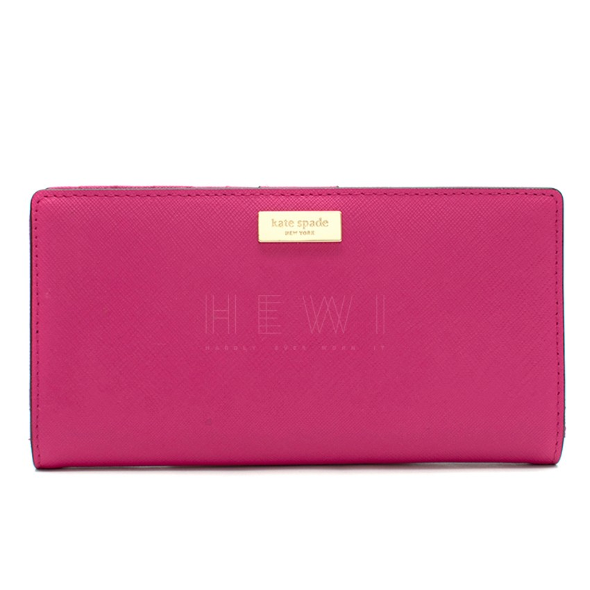 Kate Spade Pink Leather Bi-fold Mackay Place Stacey Wallet