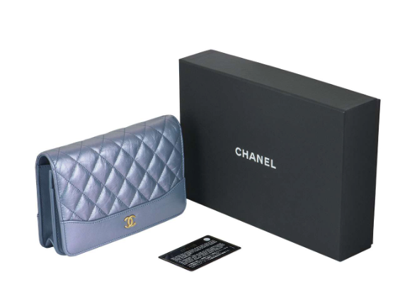 Chanel Iridescent-Blue Small Quilted-Leather Cross-Body Bag