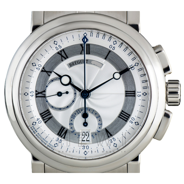 Breguet Roman Dial 18k White-Gold Watch