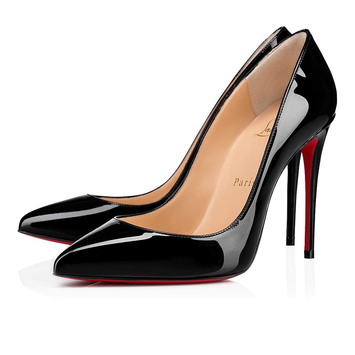 Christian Louboutin Pigalle Follies Black Patent Leather Pumps