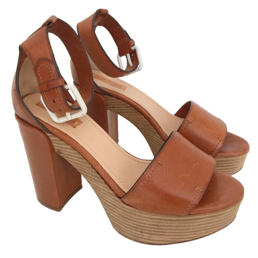 Reed Krakoff Leather Platform Sandals