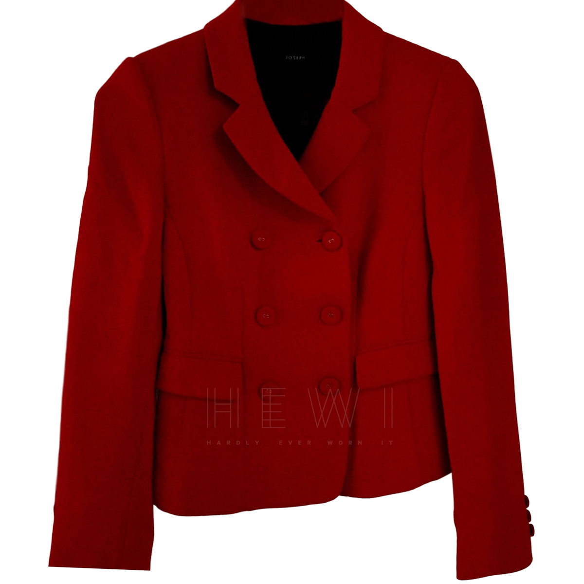 Joseph Double-Breasted Red Wool Jacket