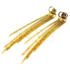 Christian Dior Chain Tassel Earrings