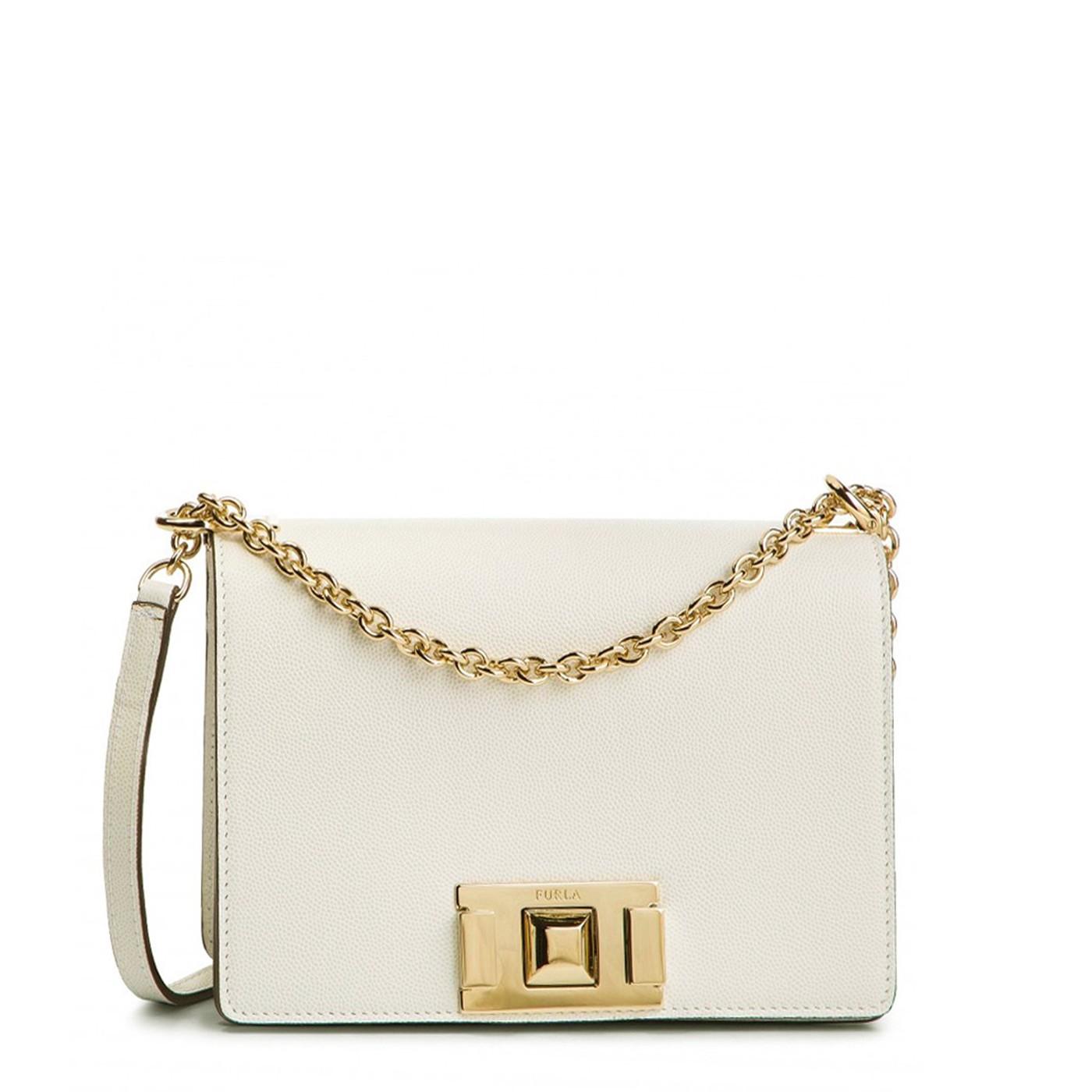 Furla Mimi White Leather Bag