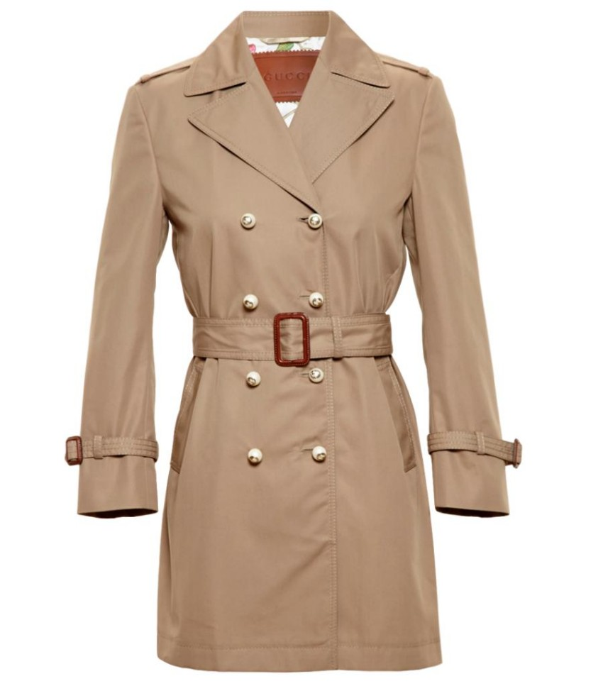 Gucci Pearl-Button Trench Coat