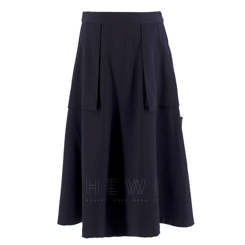 Maison Margiela Navy Exposed-Pocket Skirt