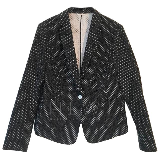 Luisa Cerano Single Breasted Polka-Dot Print Jacket